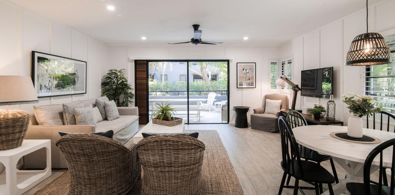 two-bedroom-living | Bella Casa Noosa